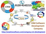 Get CRM Software Development Service That Fits your Needs