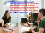 MBA Degree in Marketing at the value of a MBA affirmation in Marketing.