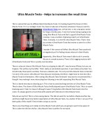 Ultra Muscle Testo - Helps to increases the result time
