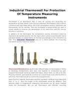 Industrial Thermowell For Protection Of Temperature Measuring Instruments