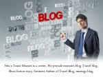 Blogging Provide Information: Travel Blog