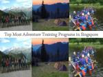 Adventure Training Singapore