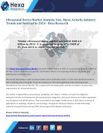 Ultrasound Device Market is expected to gain importance in the areas of disease prevention, diagnosis, and therapy