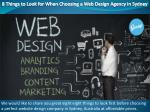 8 Things to Look for When Choosing a Web Design Agency in Sydney