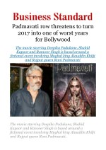 Padmavati row threatens to turn 2017 into one of worst years for Bollywood