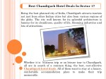 Best Chandigarh Hotel Deals in Sector 17