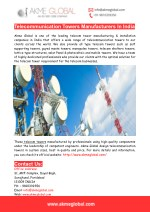 Telecommunication Towers Manufacturers In India