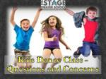 Kids Dance Class Questions and Concerns