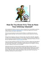 How Do You Know if it's Time to Have Your Chimney Cleaned?