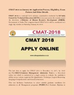 CMAT 2018 on January 20: Application Process, Eligibility, Exam Pattern And Other Details