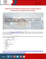 Canola Oil Industry: Outlook, Analysis and Overview By Hexa Reports