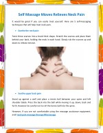 Self Massage Moves Relieves Neck Pain