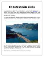 Find a tour guide online