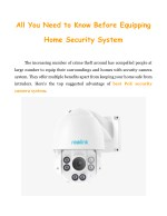 All You Need to Know Before Equipping Home Security System