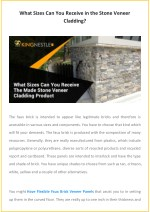 What Sizes Can You Receive in the Stone Veneer Cladding?