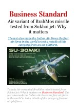Air variant of BrahMos missile tested from Sukhoi jet: Why it matters