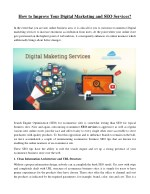 How to Improve Your Digital Marketing and SEO Services?