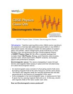 NCERT physics class 12 notes- Electromagnetic Waves