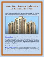 Luxurious Housing Solutions At Reasonable Price