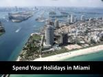 Make Your Holiday Memorable in Miami