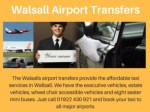Walsall Taxi Company - Walsall Airport Transfers