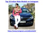 The top 10 indian male models on instagram