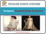 Designer Anarkali Suits Online and Punjabi Suits Online by Panache Haute Couture