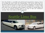 seattle limo bus
