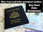 Buy real and fake passport online