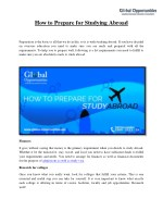 How to Prepare for Studying Abroad
