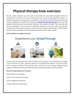 Physical therapy knee exercises