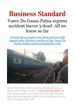 Vasco Da Gama-Patna express accident leaves 3 dead: All we know so far