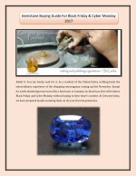 Gemstone Buying Guide For Black Friday & Cyber Monday 2017