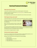 A Guide To Root Canal Treatment in Burlington