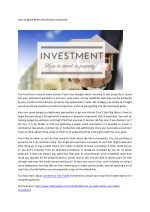 How to Make Better Real Estate Investment