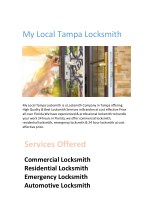 Reputed & Certified Locksmith Company in Tampa