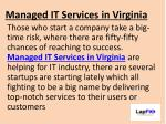 Managed IT Services in Virginia For Consistant Business Growth