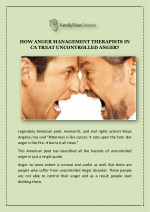 HOW ANGER MANAGEMENT THERAPISTS IN CA TREAT UNCONTROLLED ANGER