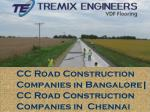CC Road Construction Companies in Bangalore| CC Road Construction Companies in Chennai