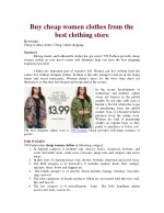 Buy cheap women clothes from the best clothing store