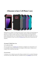 4 Reasons to have Cell Phone Cases