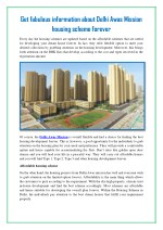 Get fabulous information about Delhi Awas Mission housing scheme forever
