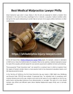 Best Medical Malpractice Lawyer Philly