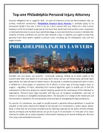 Top one Philadelphia Personal Injury Attorney