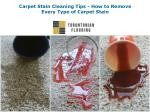 Carpet Stain Cleaning Tips - How to Remove Every Type of Carpet Stain
