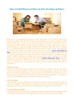 How to Find Movers to Move in Next Two Days in Pune?