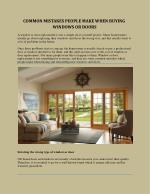 COMMON MISTAKES PEOPLE MAKE WHEN BUYING WINDOWS OR DOORS