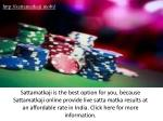 Play Online Satta Matka to Win Money