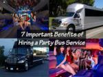7 Important Benefits of Hiring a Party Bus Service