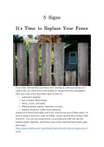 5 Signs That It's Time to Replace Your Fence